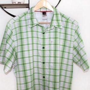 The North Face Men's Green Plaid Button Down Shirt